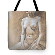 Seated Model Drawing  Tote Bag