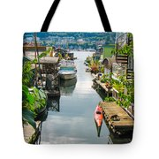Seattle Houseboats Tote Bag