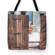 Secret Courtyard Tote Bag