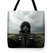 Self-portrait Of An Aerial Combat Tote Bag