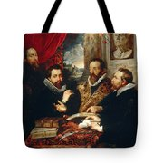 Selfportrait With Brother Philipp Justus Lipsius And Another Scholar Tote Bag