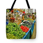 Selling Fresh Vegetables In Antalya Market-turkey Tote Bag
