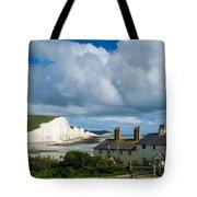 Seven Sisters Cliffs And Coastguard Cottages Tote Bag
