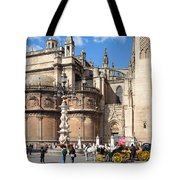 Seville Cathedral In The Old Town Tote Bag