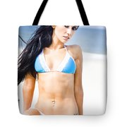 Sexy Tanned Beach Woman Tote Bag