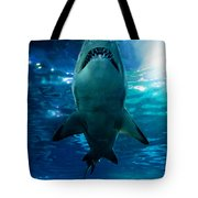Shark Silhouette Underwater Tote Bag