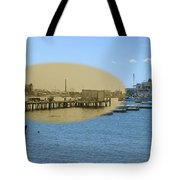 Shaw's Wharf At Sakonnet Point In Little Compton Rhode Island Tote Bag