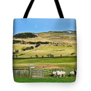 Sheep In Meadow Tote Bag