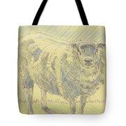 Sheep Sketch Tote Bag