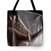 Sheer Nude Tote Bag