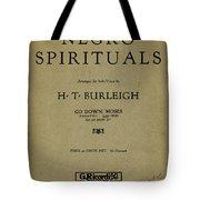 Sheet Music Spiritual Tote Bag