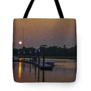 Sunset Life On Shem Creek  Tote Bag