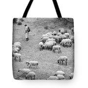 Shepherd With Sheep  Tote Bag