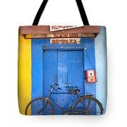 Shop On Street In Goa India Tote Bag