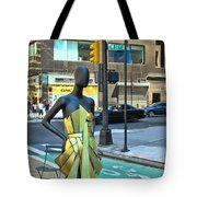 Sidewalk Catwalk 14 Tote Bag