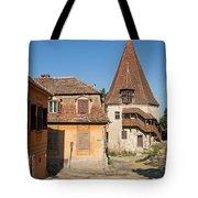 Sighisoara Transylvania Medieval Historic Town In Romania Europe Tote Bag
