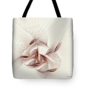 Silver And Red Tote Bag