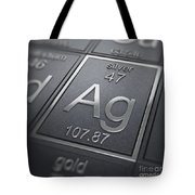 Silver Chemical Element Tote Bag