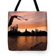 Silver Lake Sunset Tote Bag