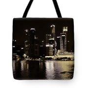 Singapore Skyline As Seen From The Pedestrian Bridge Tote Bag