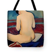 Sitting Nude With Pillow Tote Bag
