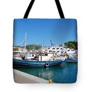 Skiathos Town Harbour Tote Bag