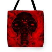 Skull In Red Tote Bag