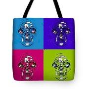 Skulls In Quad Colors Tote Bag