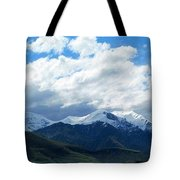 sky and Snow. Tote Bag
