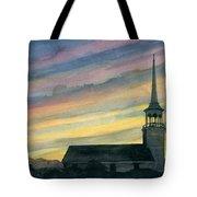Sky And Steeple Tote Bag