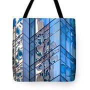 Sky Blue Glass Tote Bag