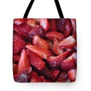 Sliced Strawberries Tote Bag