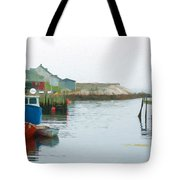 Boats In Peggy's Cove Tote Bag