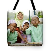 Smiling Muslim Children In Bali Indonesia Tote Bag