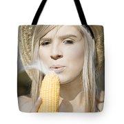 Smoking Hot Corn Cob Woman Tote Bag