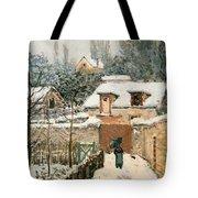 Snow At Louveciennes  Tote Bag