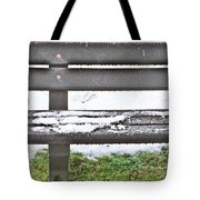 Snow On Bench Tote Bag