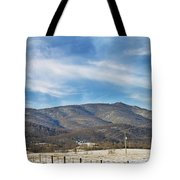Snowy High Peak Mountain Tote Bag