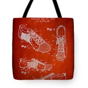 Soccershoe Patent From 1980 Tote Bag