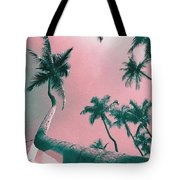 South Beach Miami Tropical Art Deco Wide Palms Tote Bag