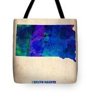 South Carolina Watercolor Map Tote Bag by Naxart Studio