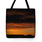 South Rim Grand Canyon Dramatic Clouds Sunset With Silhouetted R Tote Bag