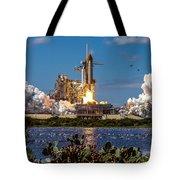 Space Shuttle Atlantis Launch Tote Bag