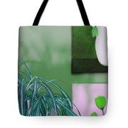 Spider Plant - Green Tulips - Still Life Tote Bag