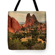 Spires In The Garden Tote Bag