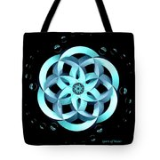 Spirit Of Water 1 - Blue With Water Drops Tote Bag