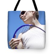Sporting A Racquet Tote Bag