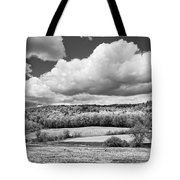 Spring Farm Landscape With Dandelions In Maine Tote Bag