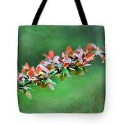 Spring Raindrops On Leaves - Digital Paint Tote Bag