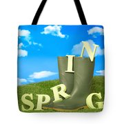Spring Wellies Tote Bag